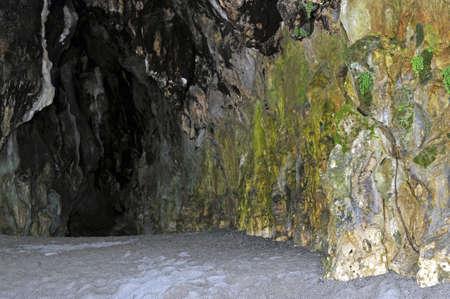 palinuro: Big cavern inside a cliff along the seacoast, Palinuro, Italy