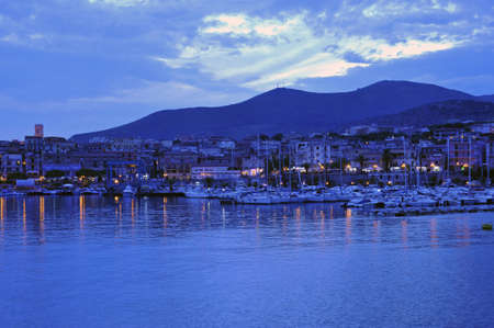 Beautiful Maria of Camerota port landscape at the dawn, Italy Stock Photo - 5497793