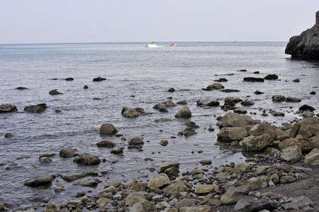 Stony and rocky shoreline, Marina of Camerota, Italy Stock Photo - 5577845
