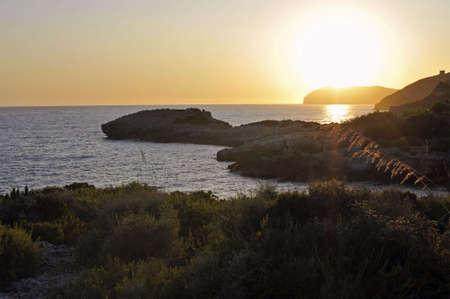 palinuro: Sundown over the rough coastline, Palinuro, Italy
