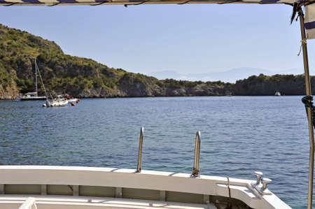 Coast view by a motorboat stern during a ride Stock Photo - 5646134