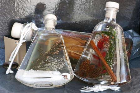 perfumed: Three ornamental bottles with perfumed fluid