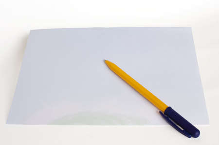 Conceptual: pen and blank paper prepared for writing Stock Photo - 6001333