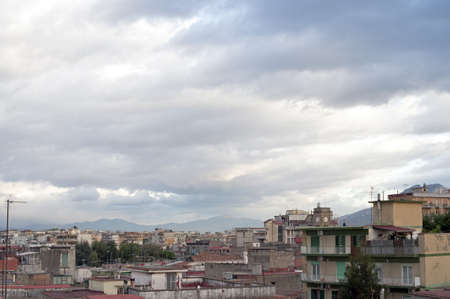 periphery: Napoly suburb landscape with Vesuvius in the background