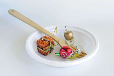 Abstract: The special New Year Eve dinner is ready! Stock Photo - 6089482