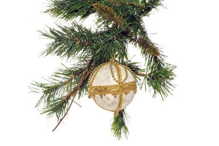 Decorative Christmas ball hanging on the Christmas tree Stock Photo - 6251401