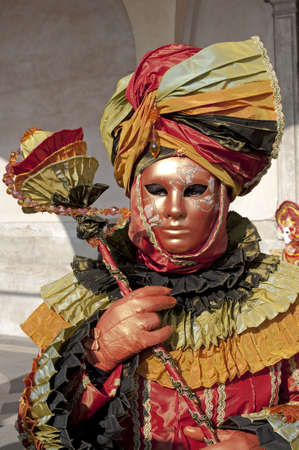carnevale: Portrait of a girl disguised for the Carnival in Venice