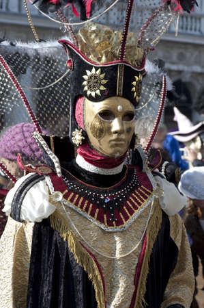 Eccentric carnival suit for Venice carnival 2010, Italy  photo