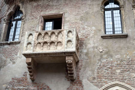 romeo and juliet: Detail of Juliet�s house, Verona, Italy
