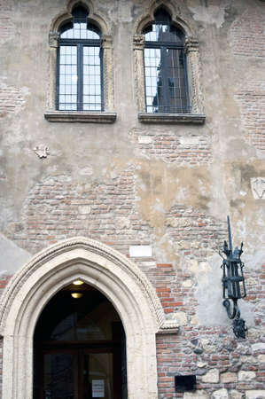 Detail of Juliet house (Capuleti palace), Verona, Italy Stock Photo - 6486994