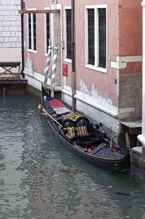 Brushstroke effect of a canal, Venice, Italy photo