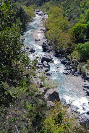Mountain Stream in Alcantara park, Sicily (Italy) photo