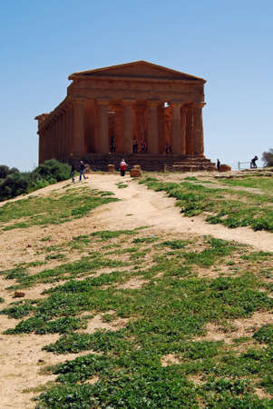 concordia: Path to The Temple of Concordia,  in the Valley of Temples in Agrigento, Sicily