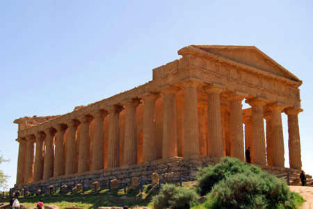 weatherworn: The Temple of Concordia  in the Valley of Temples in Agrigento. One of the most notable edifices of the Greek civilization existing today.