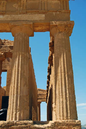 valley of the temples: Colonnade of the Temple of Concordia in the Valley of Temples in Agrigento, Sicily