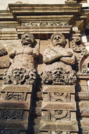 Detail of the Porta Nuova, part of Palazzo dei Normanni in Palermo, Sicily Stock Photo - 7129112