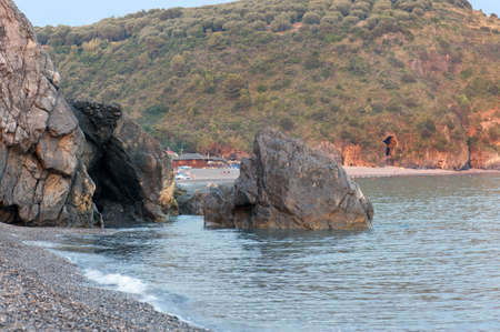Beaches among rocks and mount, Marina di Camerota, Italy Stock Photo - 7364385