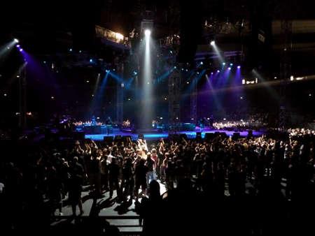 """Concert van de band """"Metallica"""", Rome 24 juni 2009. Het podium"""