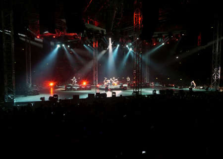 """streaks of light: Concert of the band """"Metallica"""", Rome 24 June, 2009. The stage"""
