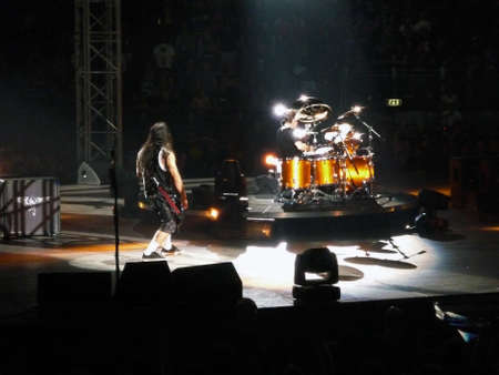 """Concert of the band """"Metallica"""", Rome 24 June, 2009. The stage"""