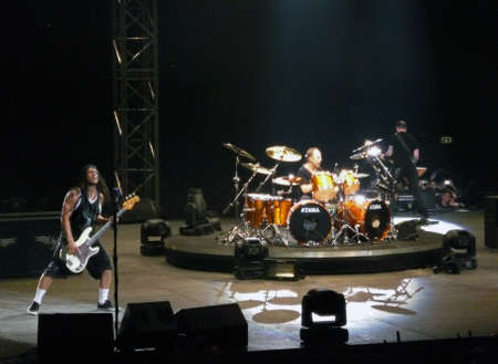 """flicker: Concert of the band """"Metallica"""", Rome 24 June, 2009. The band."""