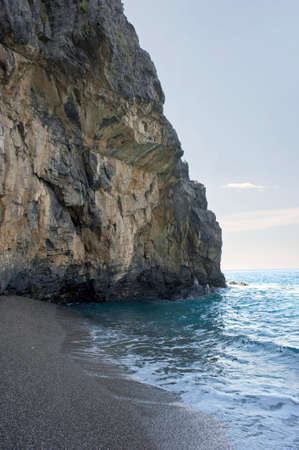 Lonely beach behind a rock spur along Cilento coast, Italy Stock Photo - 8719234