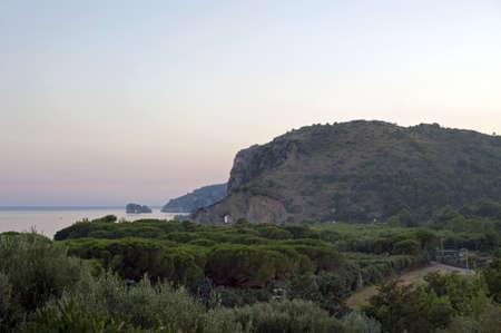 palinuro: Charming tract of coast at dusk, Palinuro, Italy