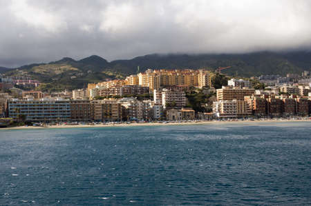 gusty: View Messina city from the sea, Italy