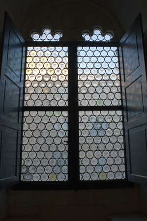 A Renaissance window, Ducal Palace in Urbino, Italy