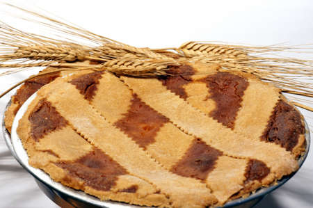 Typical Neapolitan paschal dessert called �Pastiera�  photo