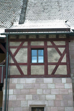 Detail of a medieval window, Nuremberg castle area, Germany Stock Photo - 17401595