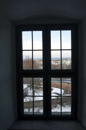Old wooden window, Nuremberg castle area, Germany Stock Photo - 17395730