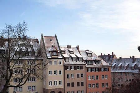 Buildings in the old Nuremberg's quarter area, Germany Stock Photo - 17395994