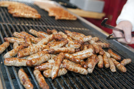 Stall selling grilled sausages, Germany photo