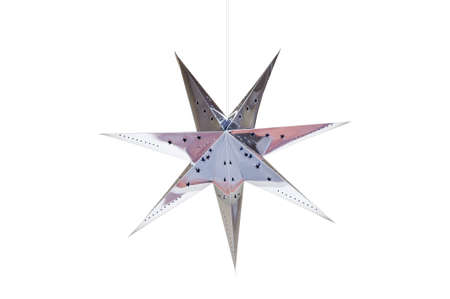 star shaped: An hanging Silver Star