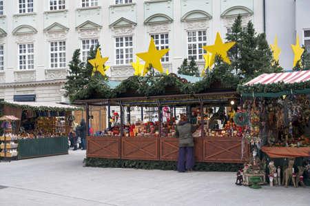 christkindlesmarkt: Christmas Market  christkindlmarket  with stalls in Erfurt, Augsburg