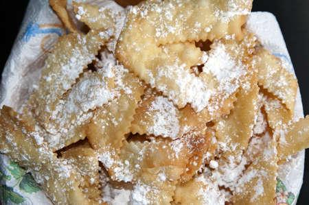 cuisine entertainment: A dish with italian pastries called chiacchere