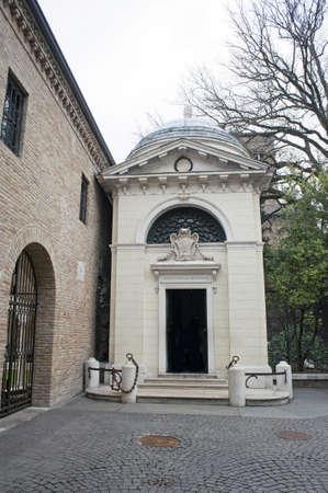 dante alighieri: Alley with Dante Alighieri s tomb building, Ravenna, Italy