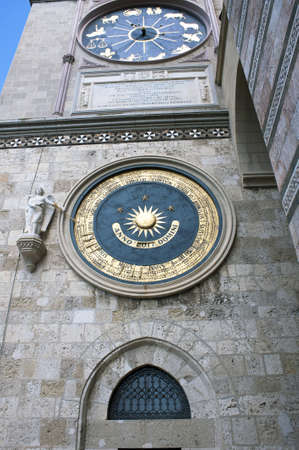 Detail of the Cathedral of Messina belfry, Italy Stock Photo - 19697326