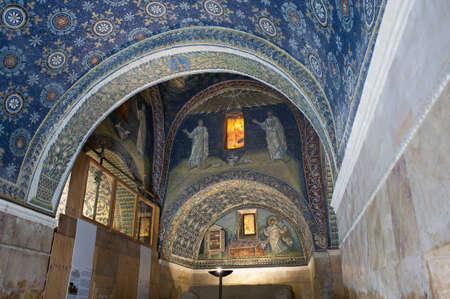 cross recess: Inside of Mausoleum of Galla Placidia, Ravenna, Italy