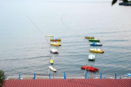 Recreational vessels at beach resort