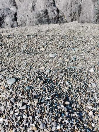 gravelly: Pebbly beach