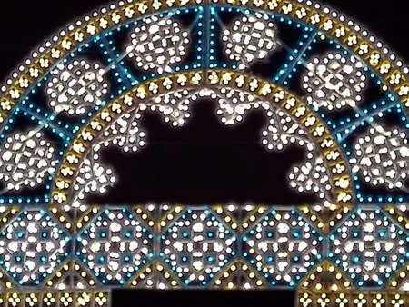 illuminations: Decorative illuminations Stock Photo
