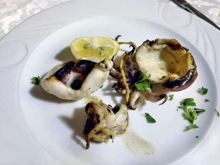 dinnertime: Roasted squid