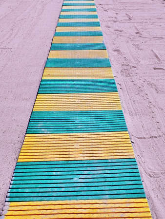 duckboards: Beach boardwalk