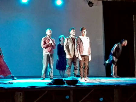 recite: Mediterranean, an impressive display of poetry, music and dance on the tragedy of migrants from Africa, onstage in Marina di Camerota, Italy,  July, 22
