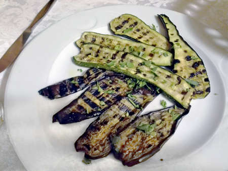 dinnertime: Vegetables at restaurant