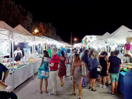 street market: A street market by night