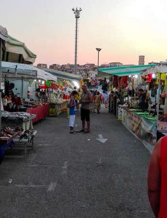 street market: A night street market