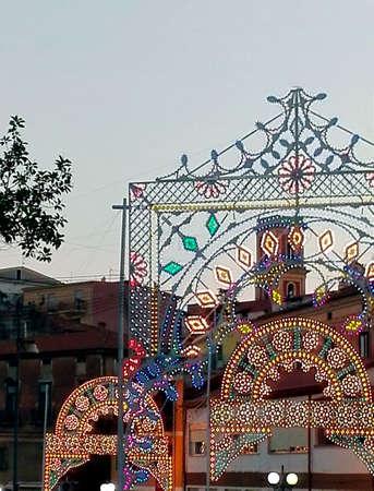 illuminations: Street with ornamental illuminations